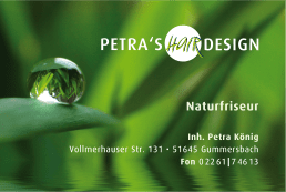 Visitenkarte – Hairdesign