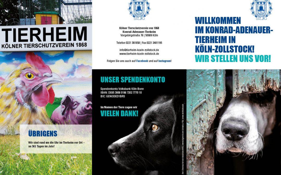 Folder 6 -Seiten Tierheim Köln Zollstock